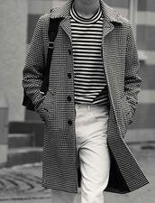 Houndstooth Coat : Coats color Black/White