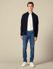 Zip-Up Wool Cardigan : Sweaters color Black