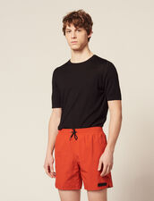 Short Swim Shorts : Pants & Jeans color Orange