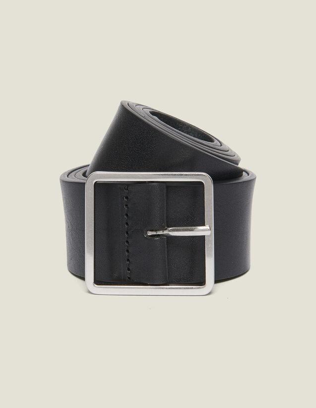 Leather Belt : Leather Goods color Black