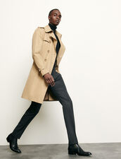 Belted trench coat : Coats color Beige