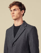 Coat fastened with three buttons : Coats color Mocked Grey