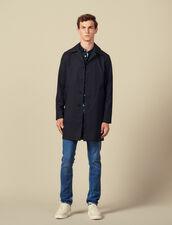 Town coat : Coats color Navy Blue