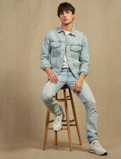 Light Washed Jeans - Narrow Cut : Pants & Jeans color Blue Vintage - Denim