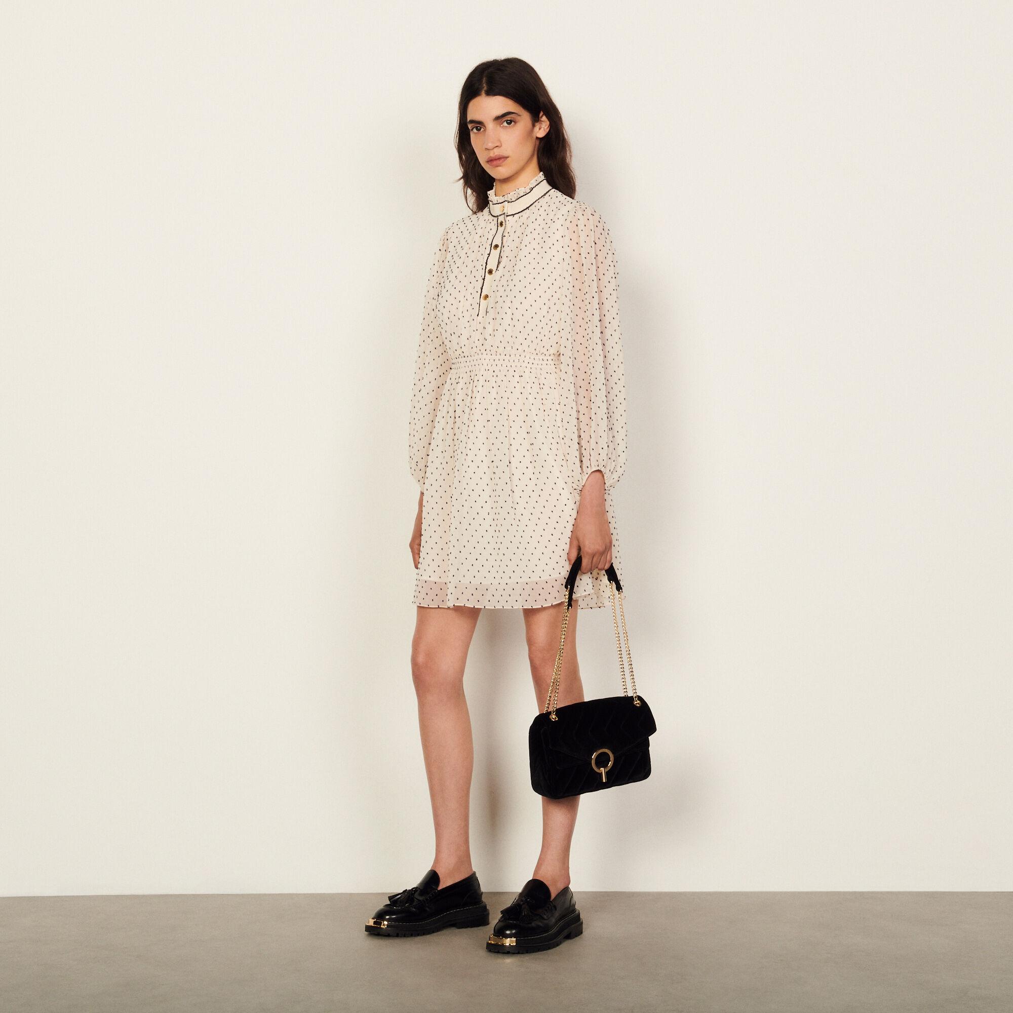 Sandro Short dotted Swiss dress