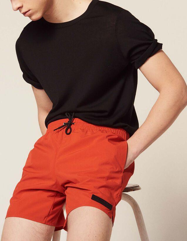 Short Swim Shorts : Pants & Jeans color Orange