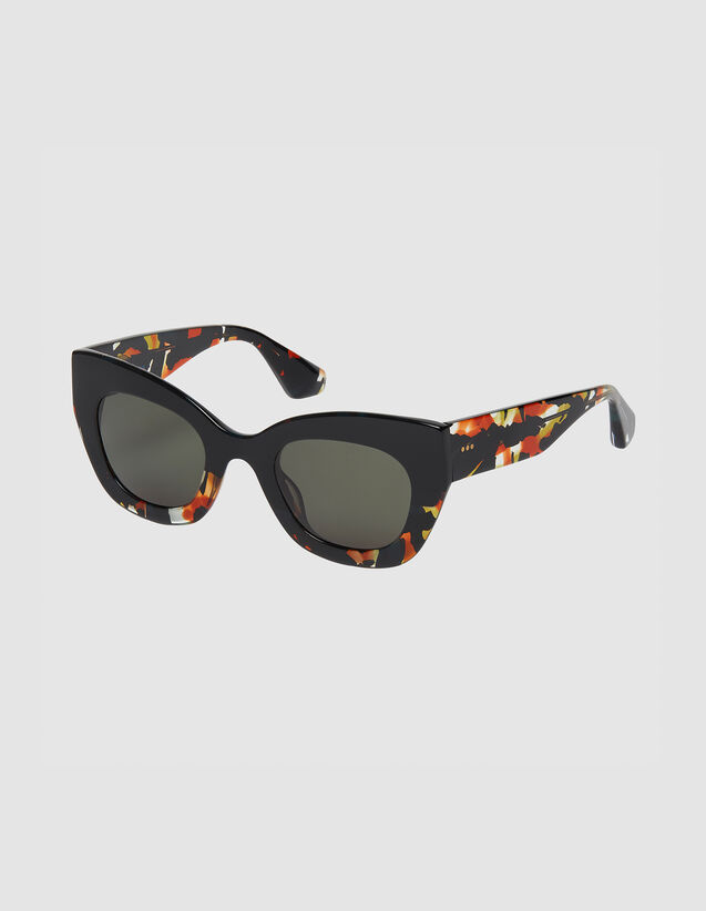Oversized sunglasses : Sunglasses color Noir/Ecaille