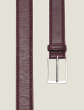 Grained Leather Belt : Belts & Ties color Brown