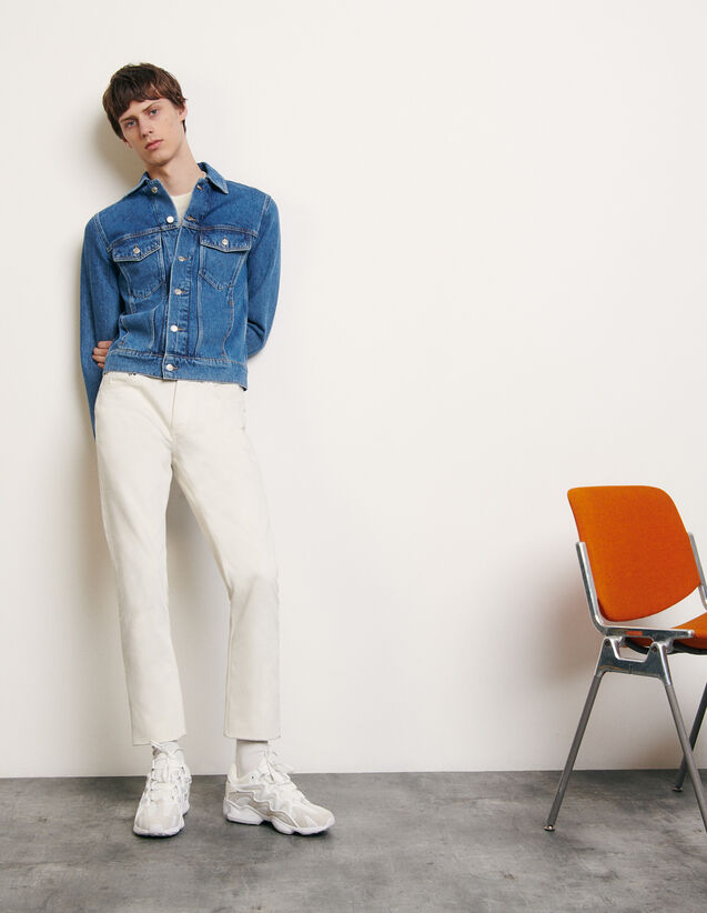 Classic faded denim jacket : Spring Pre-Collection color Blue Vintage - Denim