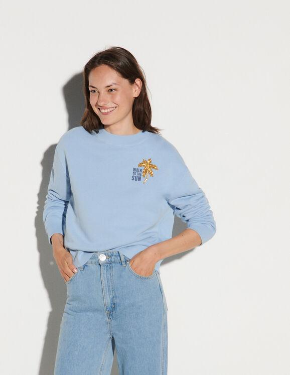 Sandro Embroidered sweatshirt
