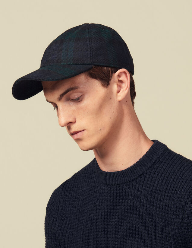 Tartan Cap : Hats color Dark green