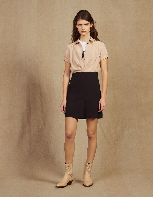 2-In-1 Short Dress : Dresses color Black
