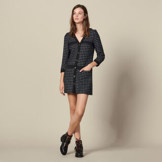 Elina, Navy Blue, hi-res, | sandro-paris.com