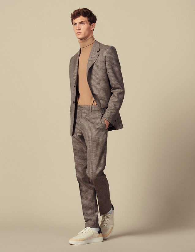 Houndstooth Suit Pants : Suits & Blazers color Camel
