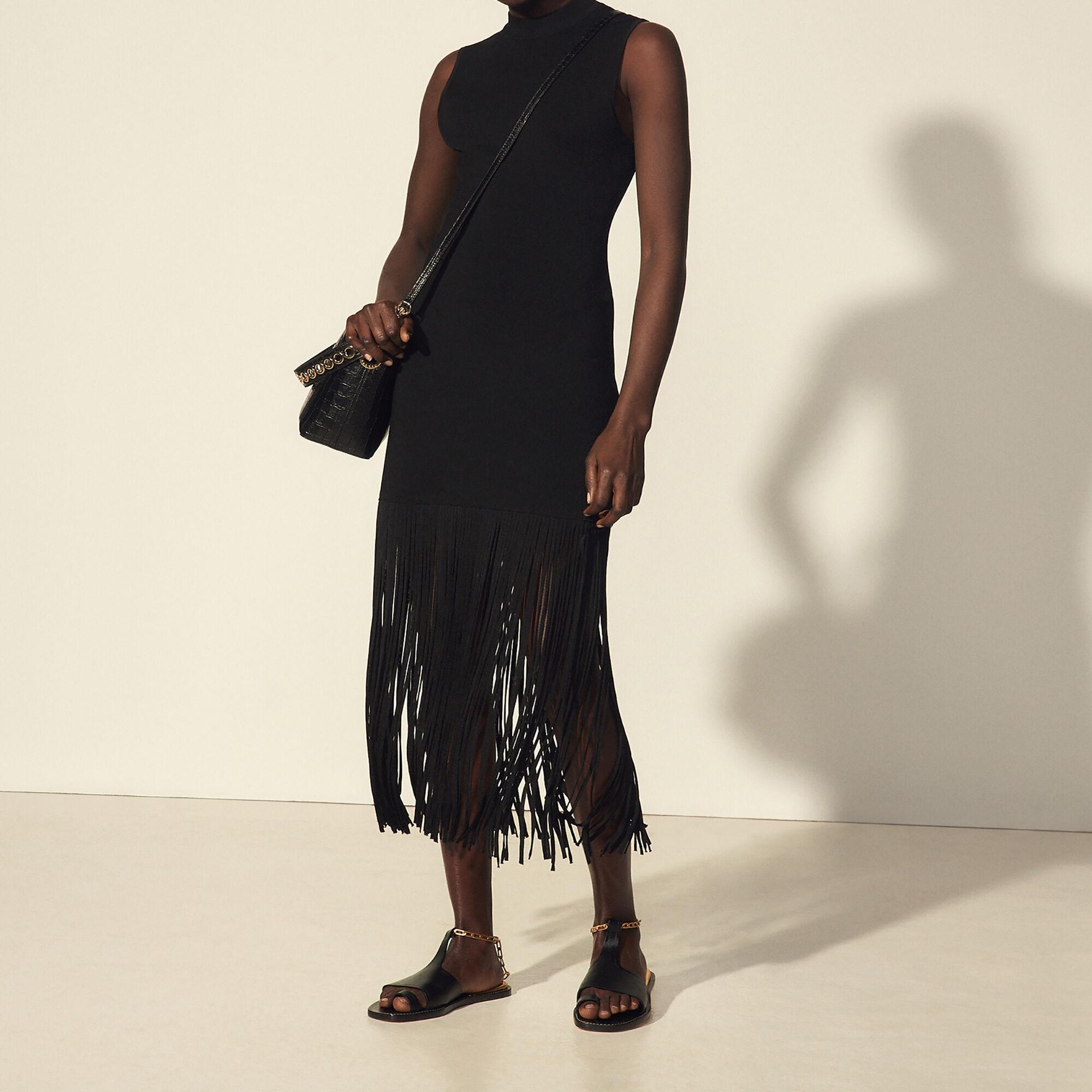Sandro Sleeveless dress with fringing