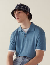 Short-Sleeved Linen Polo Shirt : T-shirts & Polos color white