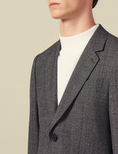 Marled Wool Suit Jacket : Suits & Blazers color Mocked Grey