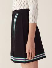 Wraparound-Style Knit Skirt : Skirts color Black