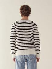 Breton Sweater With Fancy Rib : Sweaters color Ecru