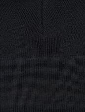 Wool Blend Beanie : Hats color Black