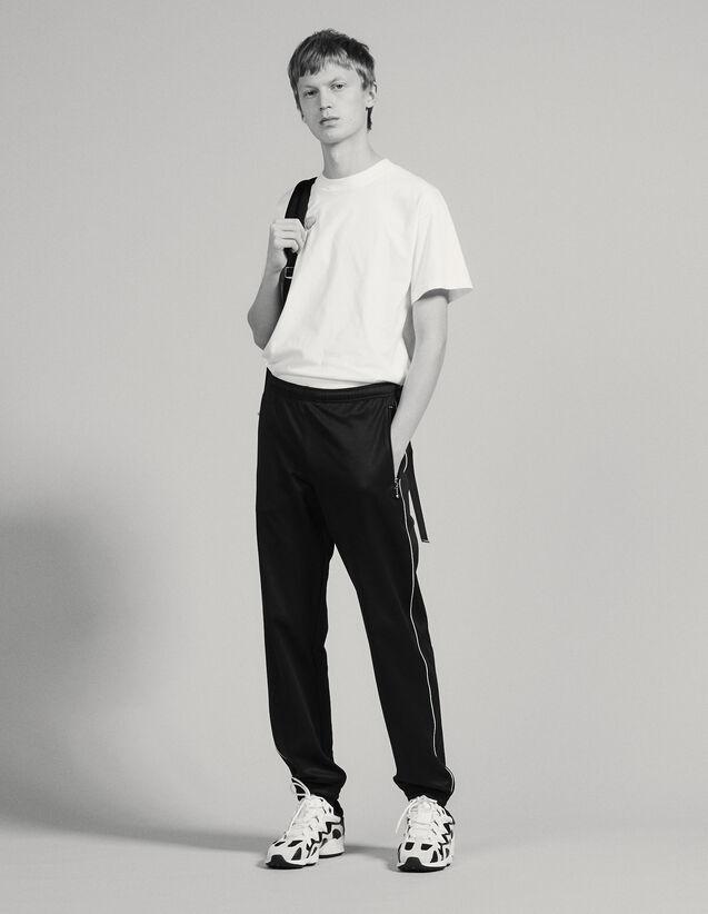Track Pant Style Jogging Bottoms : Pants & Jeans color Black