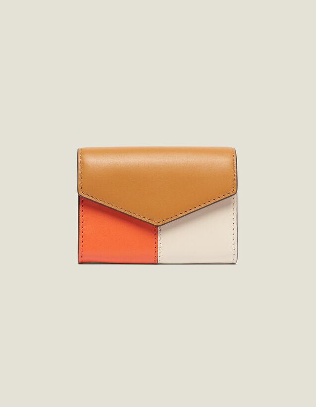 Lou Wallet : Other Accessories color Camel/Ecru/Orange