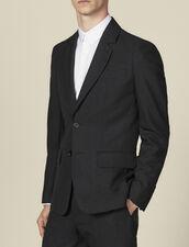 Topstitched suit jacket : Suits & Blazers color Charcoal Grey