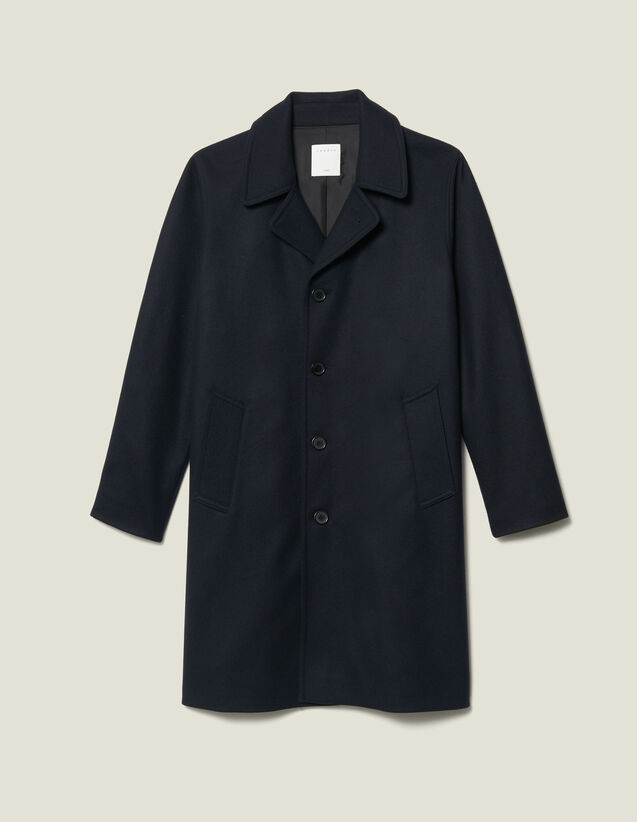 Oversized Town Coat : Coats color Navy Blue