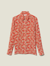 Printed silk shirt : Tops & Shirts color Red