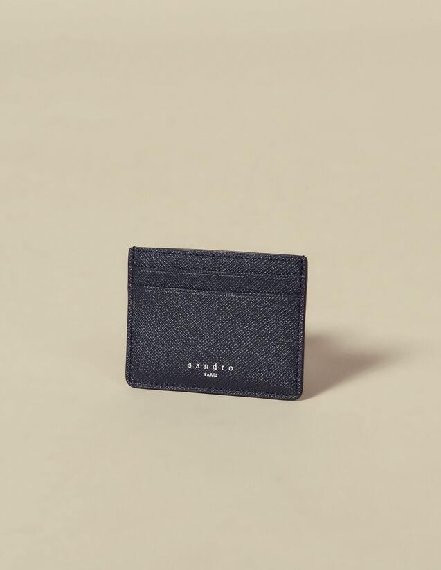 Leather Card Holder : Leather Goods color Navy Blue