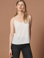 Top With Fine Straps : Under Garments color Ecru