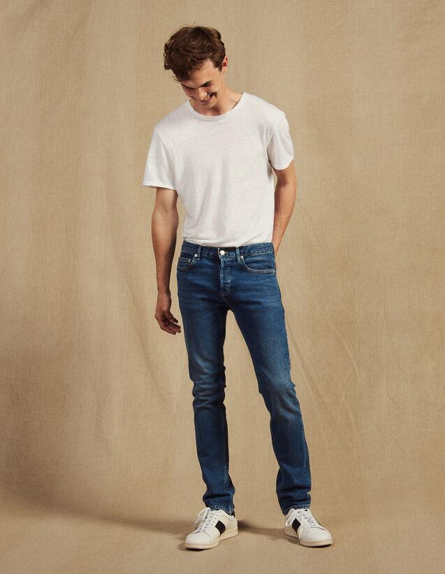 Washed jeans - Slim cut : Essentials color Blue Vintage - Denim