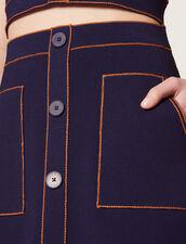 Short Knit Skirt : Skirts color Navy Blue