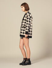 Loose-fitting checked cardigan : Spring Pre-Collection color Beige