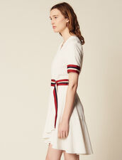 Wraparound Dress With Ribbed Edging : Dresses color Ecru