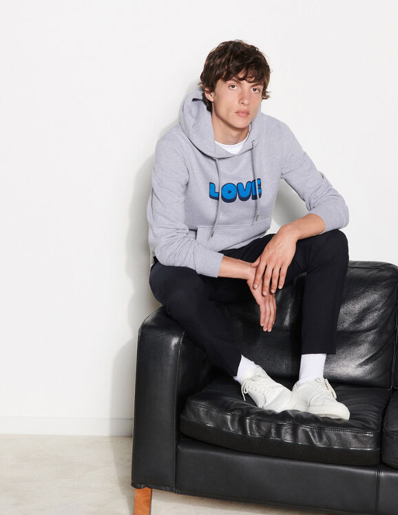 Sandro Hoodie with embroidered lettering