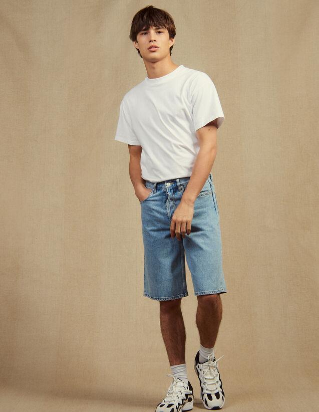 Denim Bermuda Shorts : Jeans color Blue Vintage - Denim