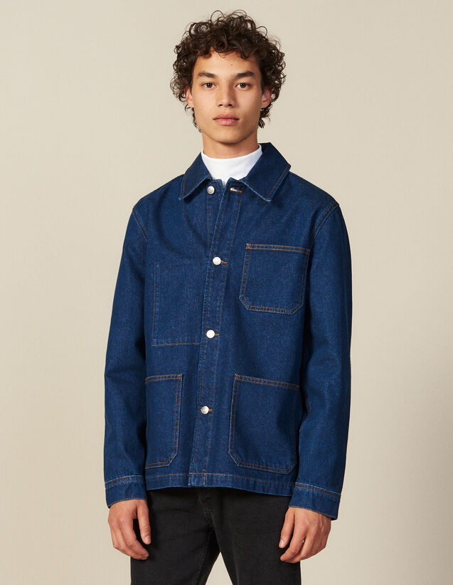 Denim Workwear Jacket : Jackets color Blue Vintage - Denim