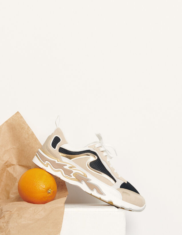 Flame trainers : Spring Pre-Collection color Gold