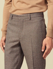 Houndstooth suit pants : Suits & Blazers color Camel