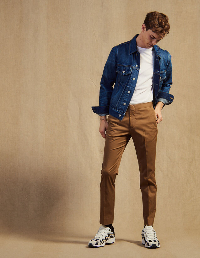 Fitted Chinos : Pants & Shorts color Taupe