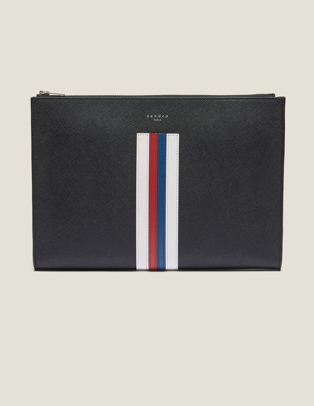 Document Case With Colored Stripes : Bags color Black