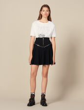 Flared Knit Skirt With Zip : Skirts color Black