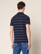 Stripe Polo Shirt : T-shirts & Polos color white