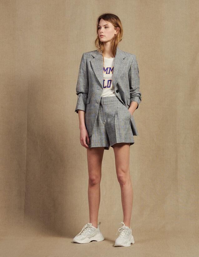 Checked Blazer : Jackets color Grey