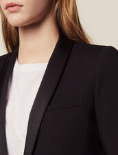 Tuxedo Jacket With Satin Inset : Essentials color Black