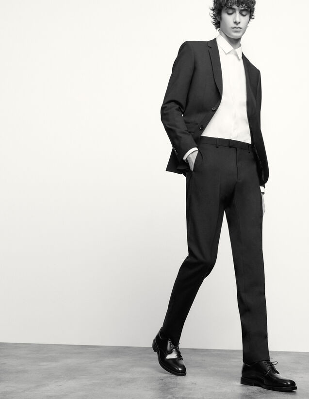 Classic wool suit pants : Spring Pre-Collection color Navy Blue