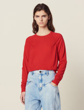 Long-Sleeved Wool Sweater : Sweaters color Red