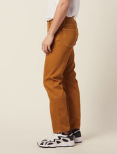Cotton Canvas Pants : Pants & Jeans color Ochre