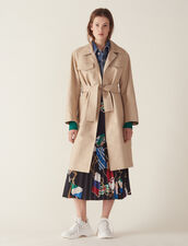 Trench Coat With Denim Jacket Insert : Coats color Beige